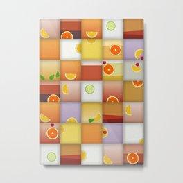 cocktail squares Metal Print