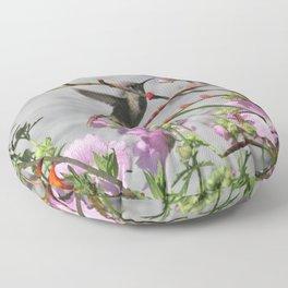 Hummingbird in Flight Floor Pillow
