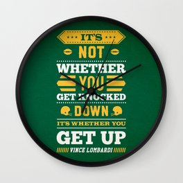 Lab No.4 - It's Not Whether You Get Knocked Down Inspirational Quotes Poster Wall Clock
