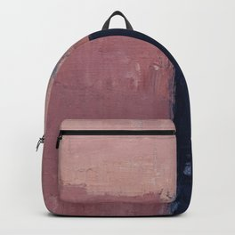 Pink navy abstract Backpack