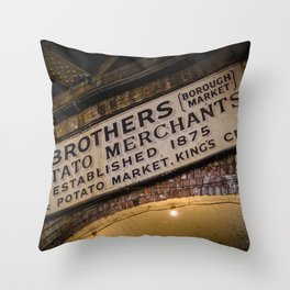 Lee Brothers Sign at Borough Market, London | Color | Street & Travel Photography | Photo Art Print Throw Pillow