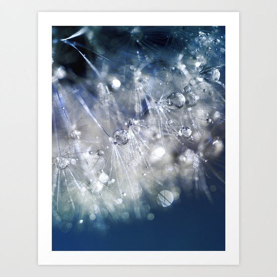 New Year's Blue Champagne Art Print