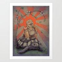 buddah Art Prints featuring Buddah by BBarends