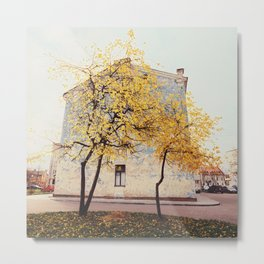 Autumn in the City, Color Film Photo Metal Print