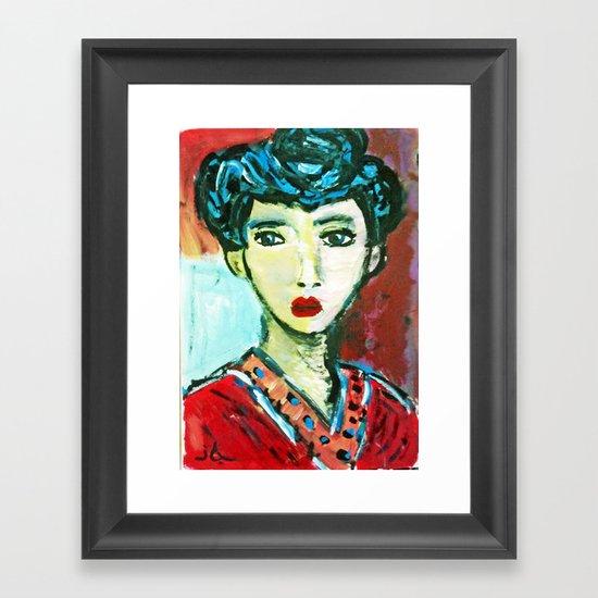 LADY MATISSE IN TEEN YEARS Framed Art Print