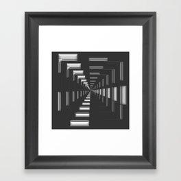 Infinity in Chrome Framed Art Print