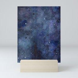 Night Sky Stars Galaxy | Watercolor Nebula Mini Art Print