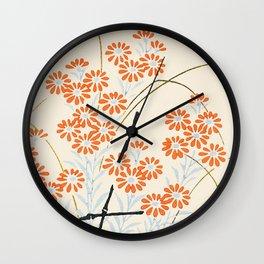 Ornamental Chrysanthemum, Daisy Flowers Wall Clock
