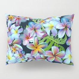 Rainbow Plumeria Dark Pillow Sham