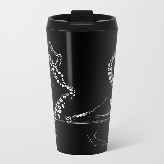 -//-octopus interference -//- Metal Travel Mug