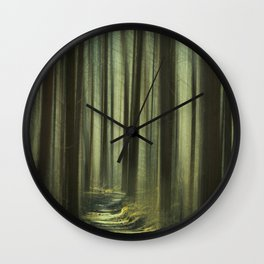 Forest and Sunlight II Wall Clock
