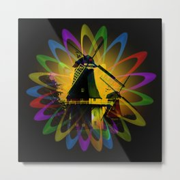 Windmills - Greetsiel Metal Print