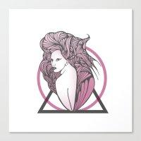 artpop Canvas Prints featuring Artpop  by Clare Corfield Carr