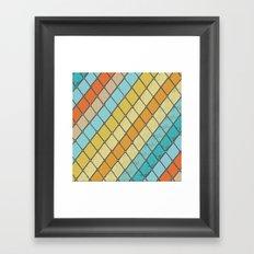Fish Aqua Print Framed Art Print