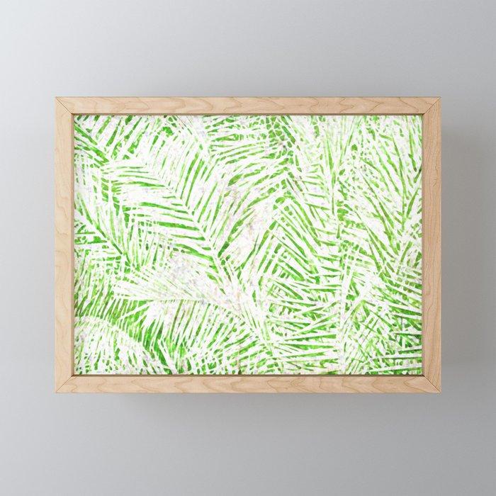 Tropical Fronds Framed Mini Art Print