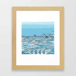 Shackleton- Elephant Island (April 24th 1916) Framed Art Print