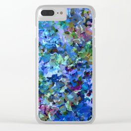 Blue Violet Woods Clear iPhone Case