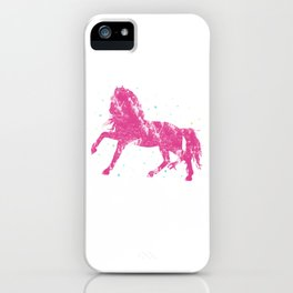Horse Riding Gift Little Girls Sparkle Horseback Farm iPhone Case