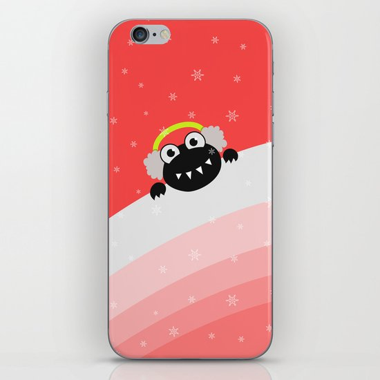 Cute Winter Bug With Earflaps iPhone & iPod Skin