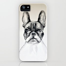 Portrait of a French Bulldog iPhone Case