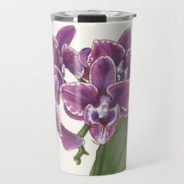 Purple Phalaenopsis Orchid Travel Mug