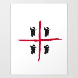 Sardegna, 4 volte Art Print
