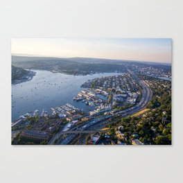Seattle, City with Love Canvas Print