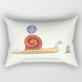 Snail and extraterrestrial Rectangular Pillow