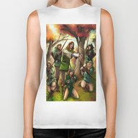 robin hood Biker Tanks featuring Robin Hood and his Merry Women by Eco Comics