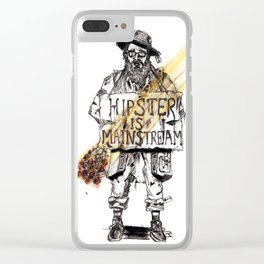 Hipster is Mainstream Clear iPhone Case