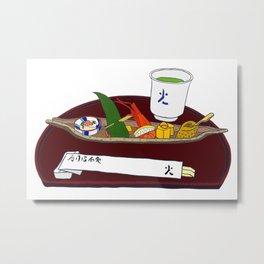 Japanese Sushi Kaiseki Starter Metal Print