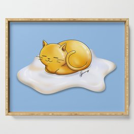 Sunny-side Up Cat Serving Tray