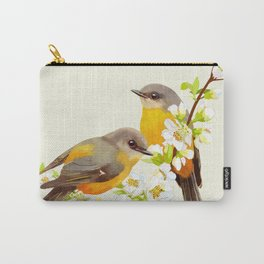 bird in cherry tree Carry-All Pouch