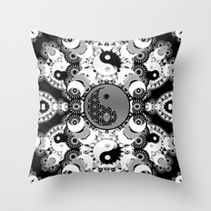 YinYang Sacred Geometry Totem Throw Pillow