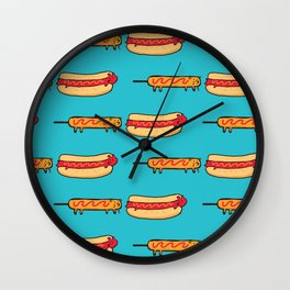 Dog Eat Dog World Wall Clock