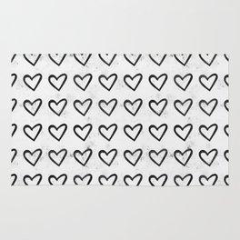 Big Heart Ink Pattern Rug