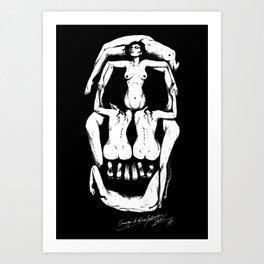 Salvador Dalì Skull Art Print