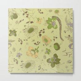 large flowers - greens Metal Print