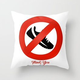 Shoes Off Throw Pillow