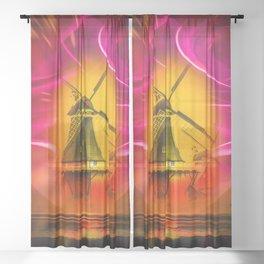 Windmills Sheer Curtain