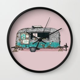 Bullet Ice Cream Caravan Wall Clock