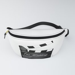 Our Wedding Clapperboard Fanny Pack