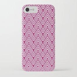 Marsala Diamond Pattern iPhone Case