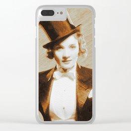 Marlene Dietrich, Movie Legend Clear iPhone Case