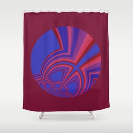Abstract 427 Shower Curtain