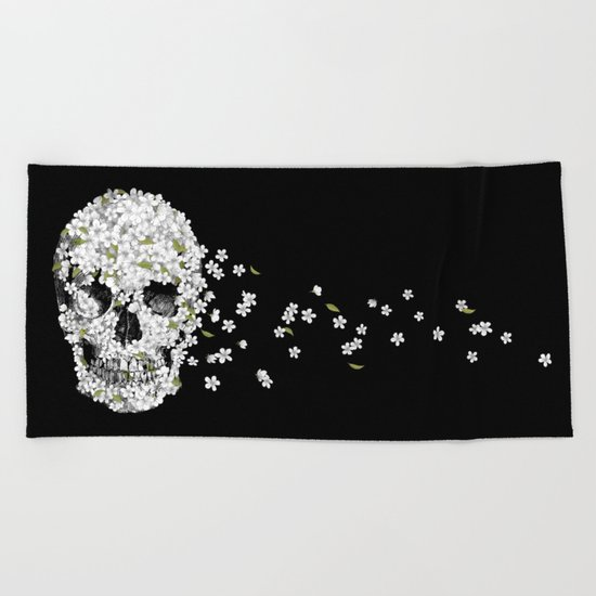 A Beautiful Death - mono Beach Towel