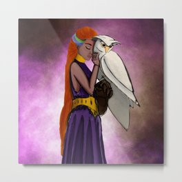 Mystical Owl Metal Print
