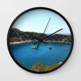 Rhodes Greece Anthony Quinn Bay Wall Clock