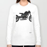 cafe racer Long Sleeve T-shirts featuring cafe racer bike  by Daniele Faro