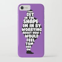 fat iPhone & iPod Cases featuring Fat by Zeke Tucker